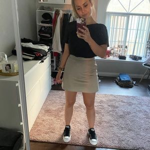Suéde Skirt Taupe